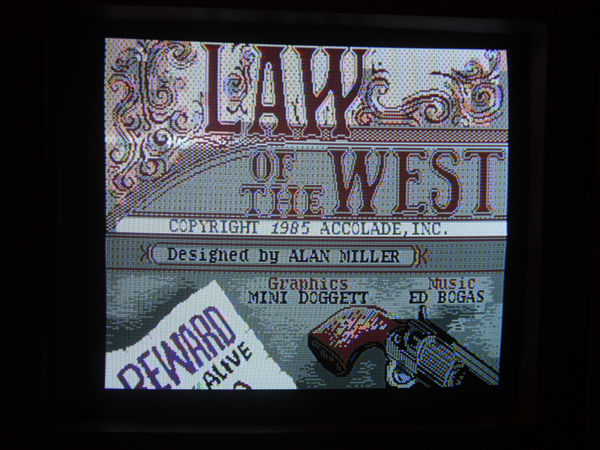 Commodore 64 Law of the West Title Screen