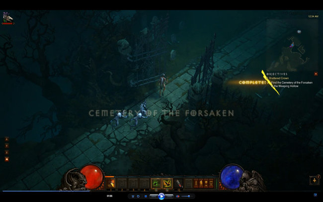 Diablo 3 Cemetery of the Forsken in the Weeping Hollows