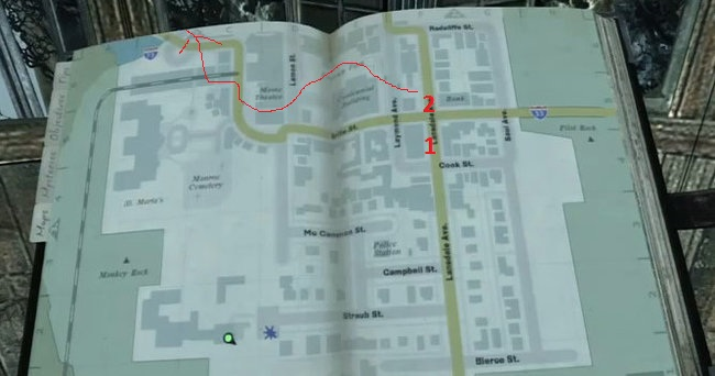 SIlent Hill Downpour Map for Side Quest RIbbons