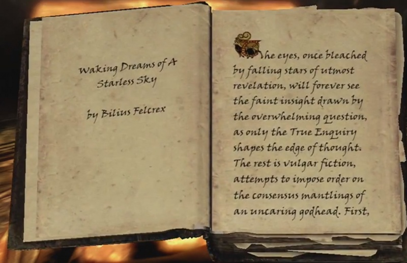 Black Book Waking Dreams Skyhrim Dragonborn