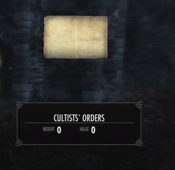 Skyrim Dragnborn Cultists' Orders
