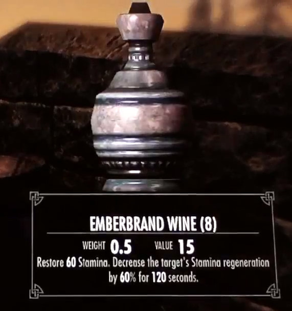 Skyrim Dragonborn Emberbrand Wine