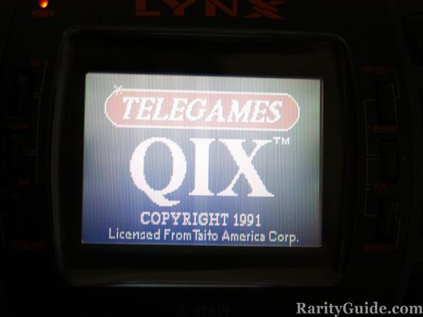Atari Lynx Qix Title Screen
