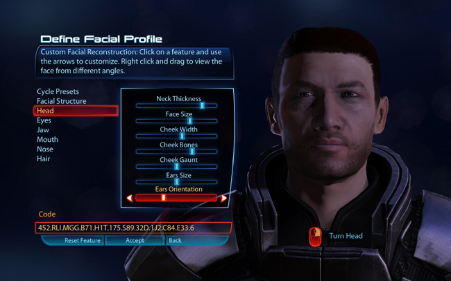 Mass Effect 3 Character Creation