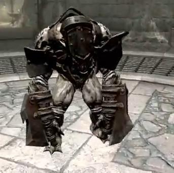Skyrim Dawnguard Armored Frost Troll Follower