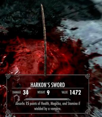 Skyrim Harkon's Sword