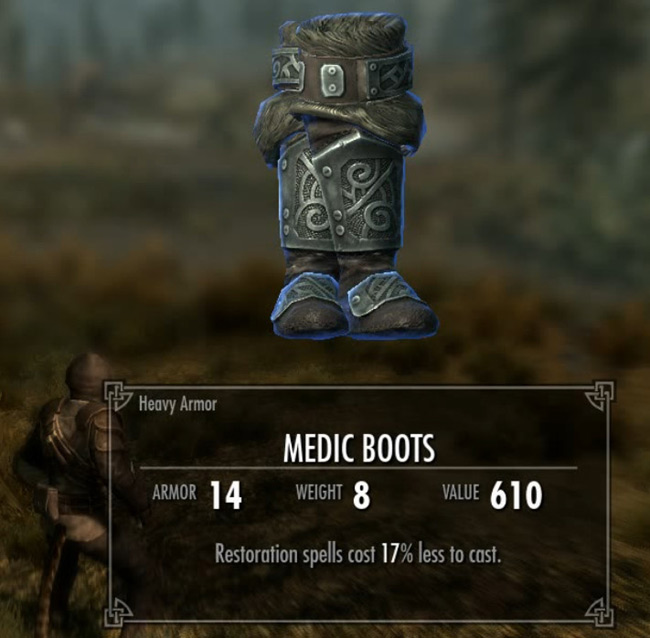 Skyrim Creation Kit Medic Boots