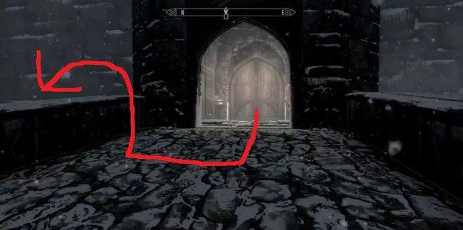 Skyrim Dawnguard Castle Volkihar Secret Entrance