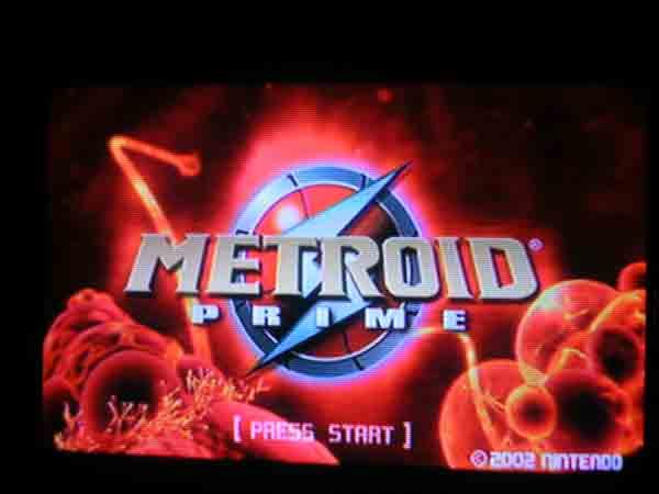 Metroid Prime Titlescreen