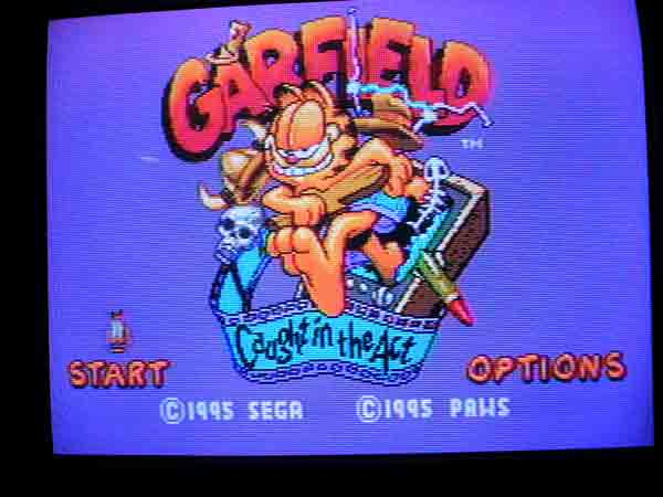 Garfield Caught in the Act Title Screen