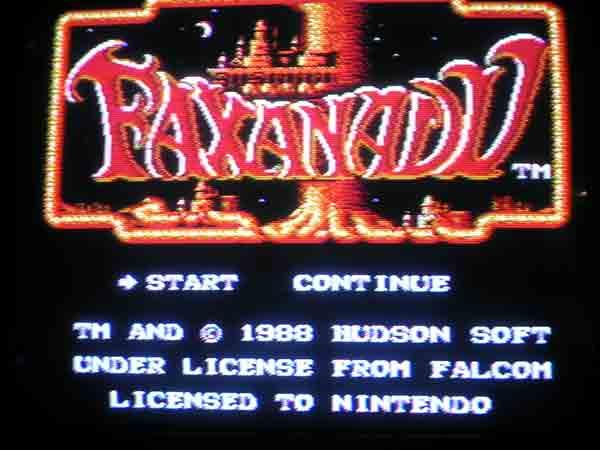 Faxanadu titlescreen