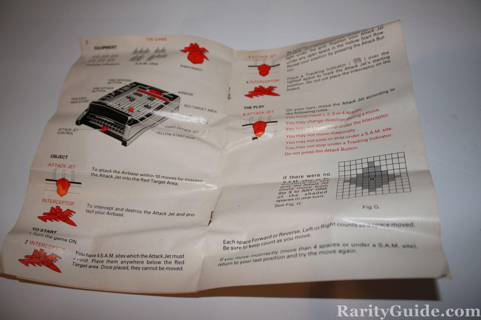rarityguide com museum card and board games electronic intercept rh rarityguide com switch games instruction manuals psp games instruction manual