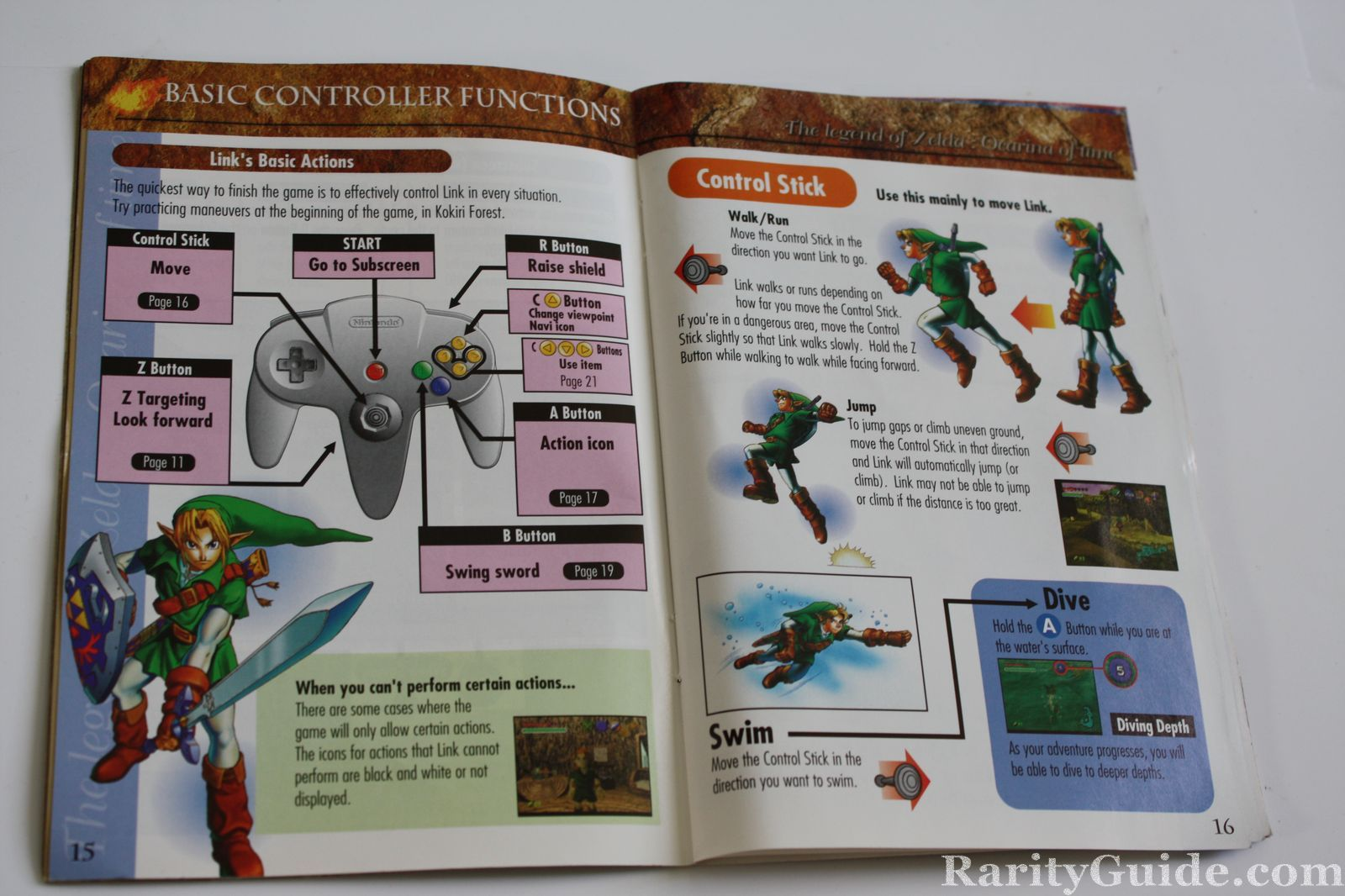 super mario 64 instruction manual