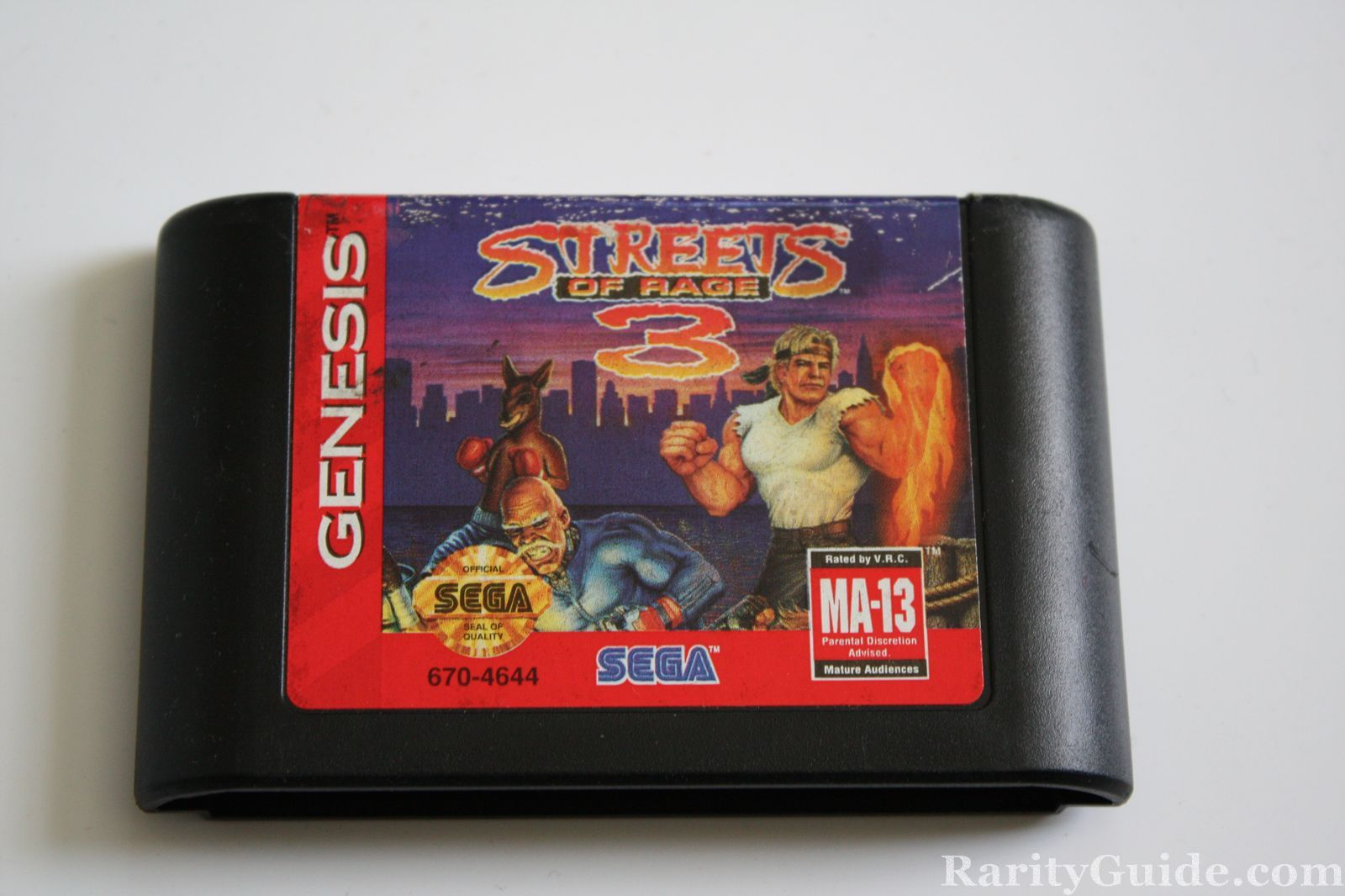 Sega Genesis Streets of Rage 3 Video Game Cartridge