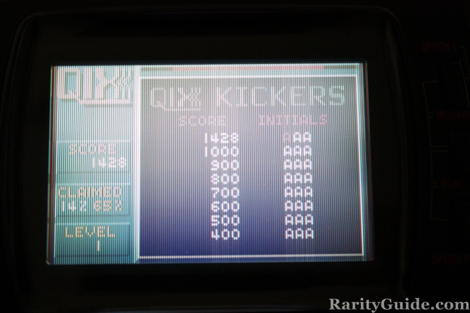 QIX for the Atari Lynx screenshot- High Scores