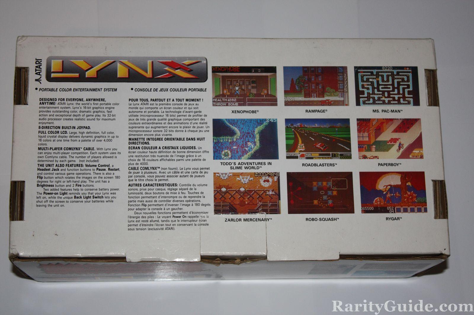 Atari Lynx Box Back View