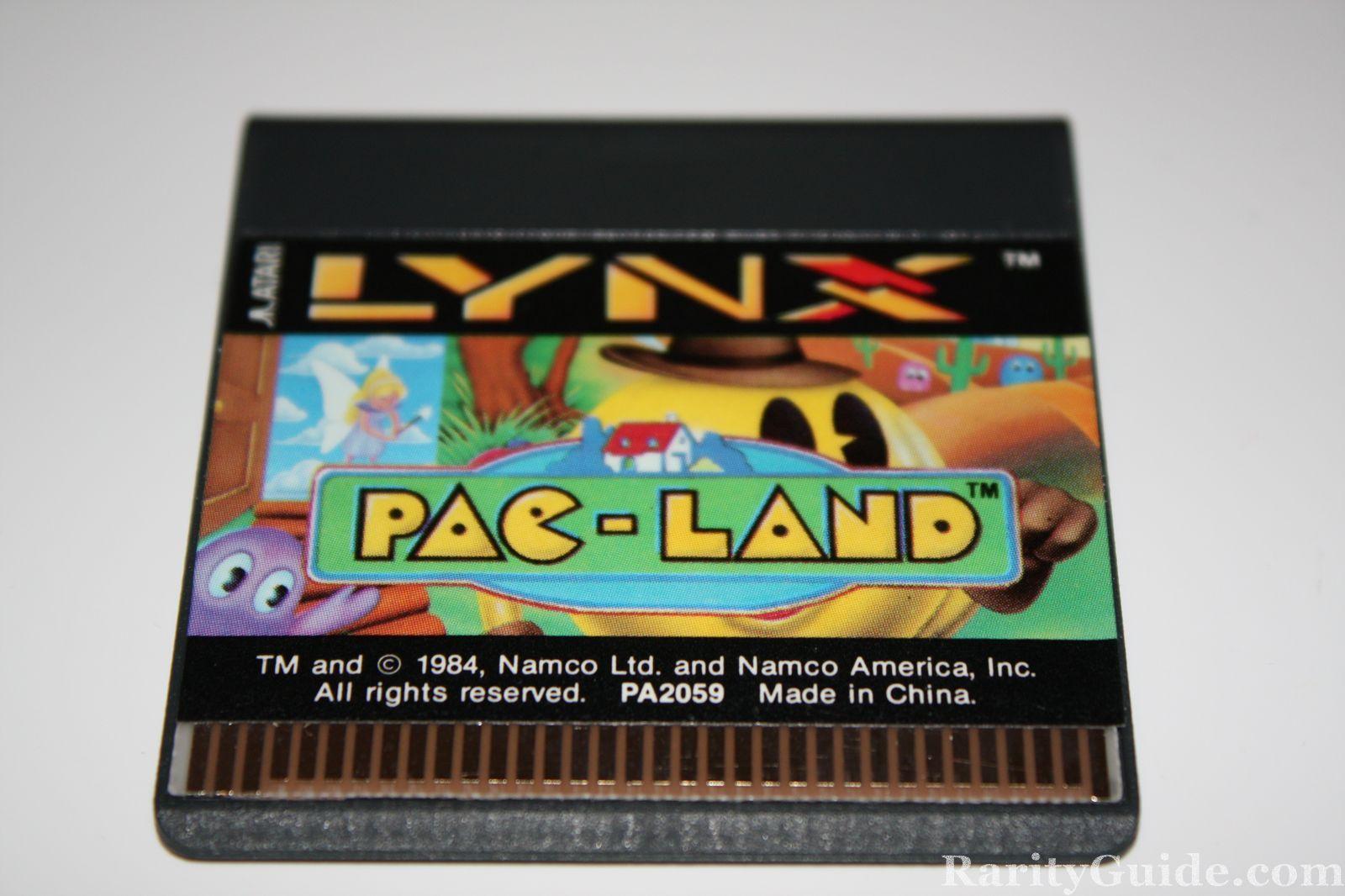 Atari Lynx Pac-Land Game Cartridge