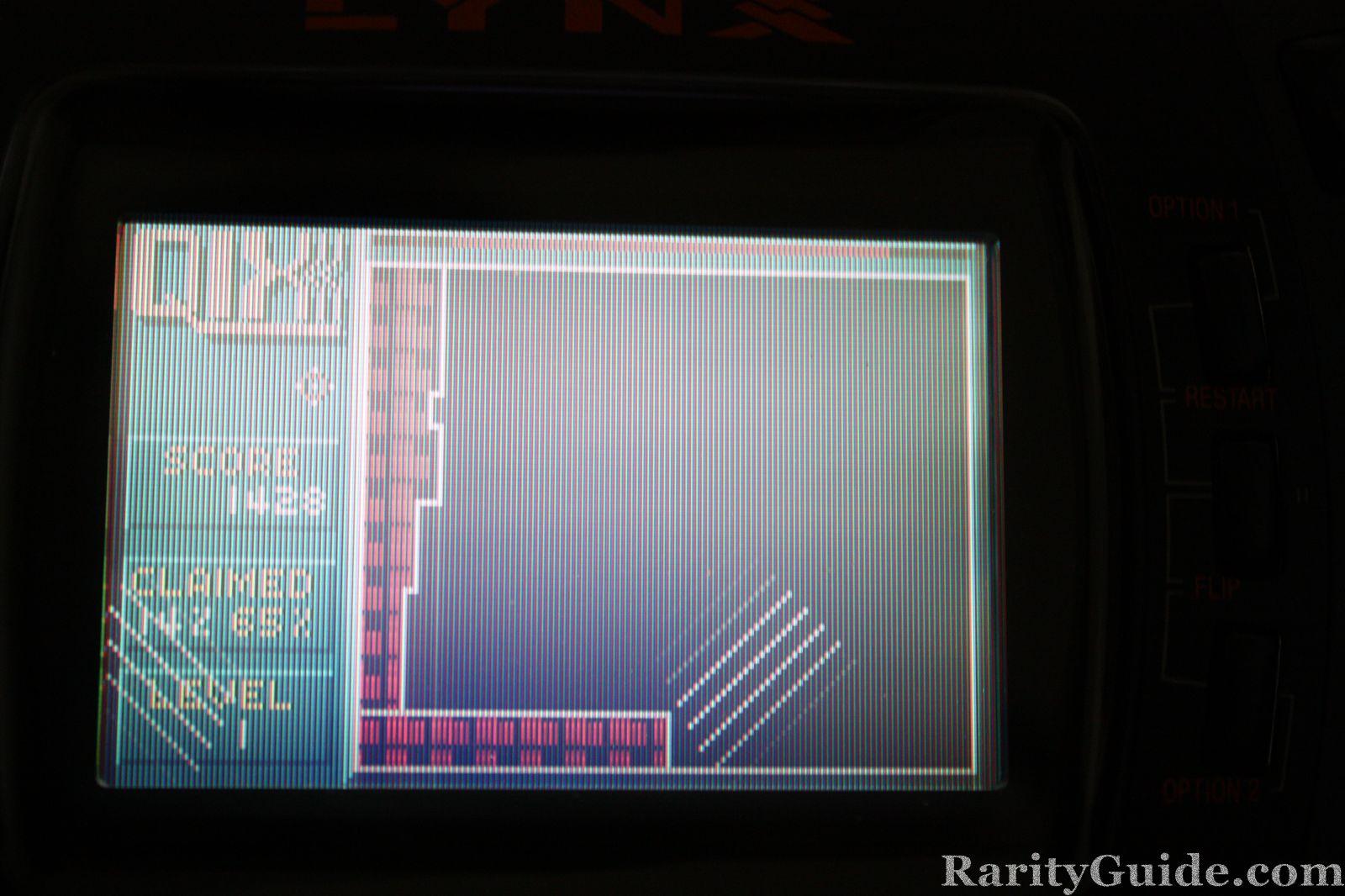 Game Screen Shot QIX Atari Lynx