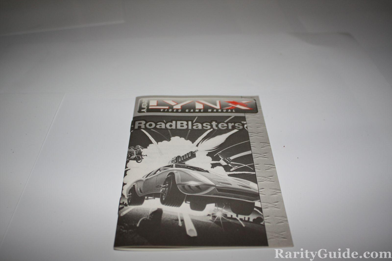 Atari Lynx RoadBlasters Manual