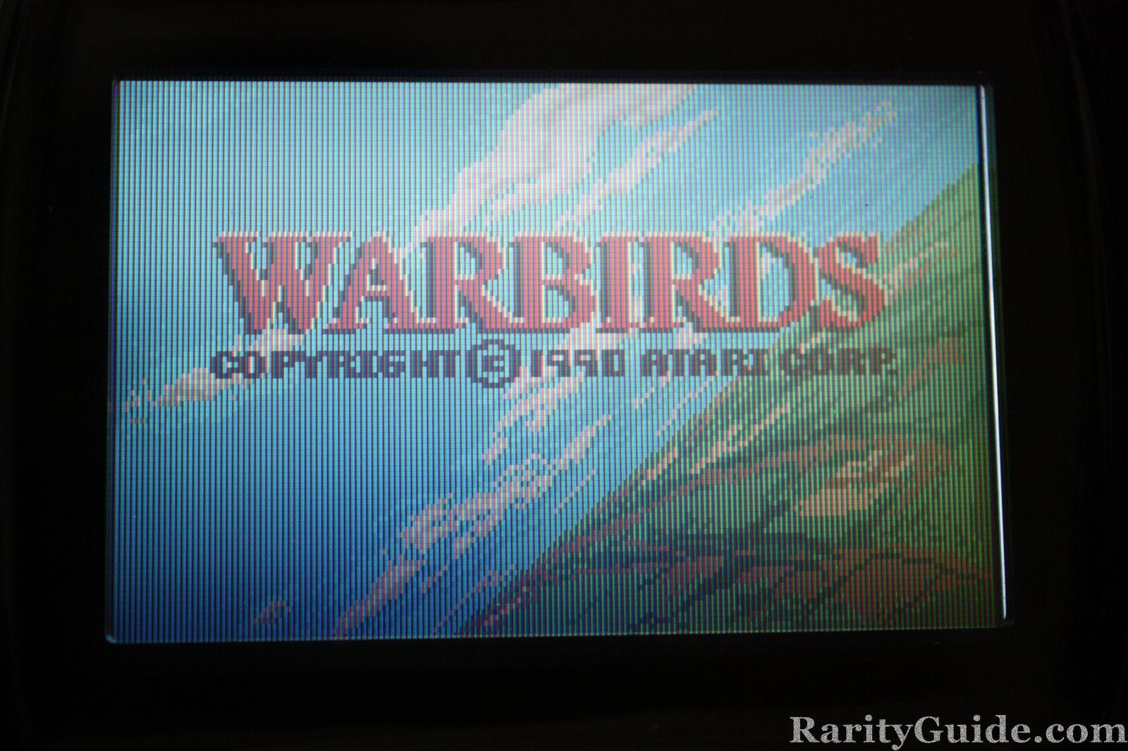 Atari Lynx Warbirds Title Screen