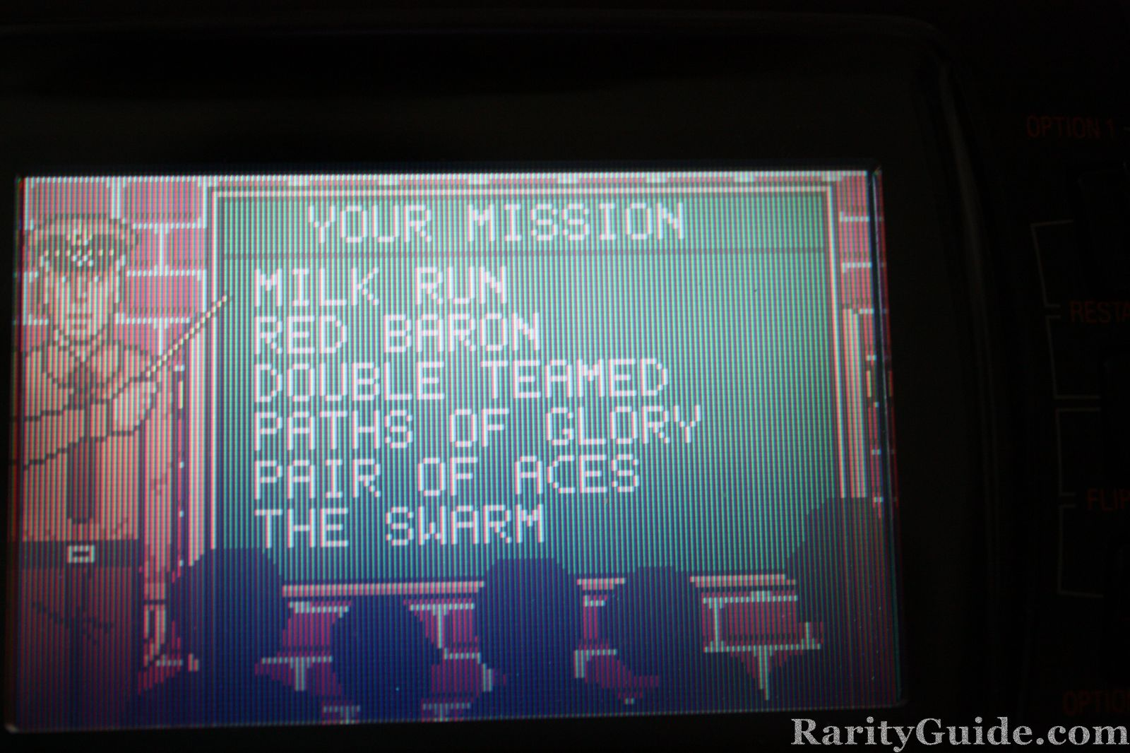 Atari Lynx WarBirds Briefing Room Mission Menu