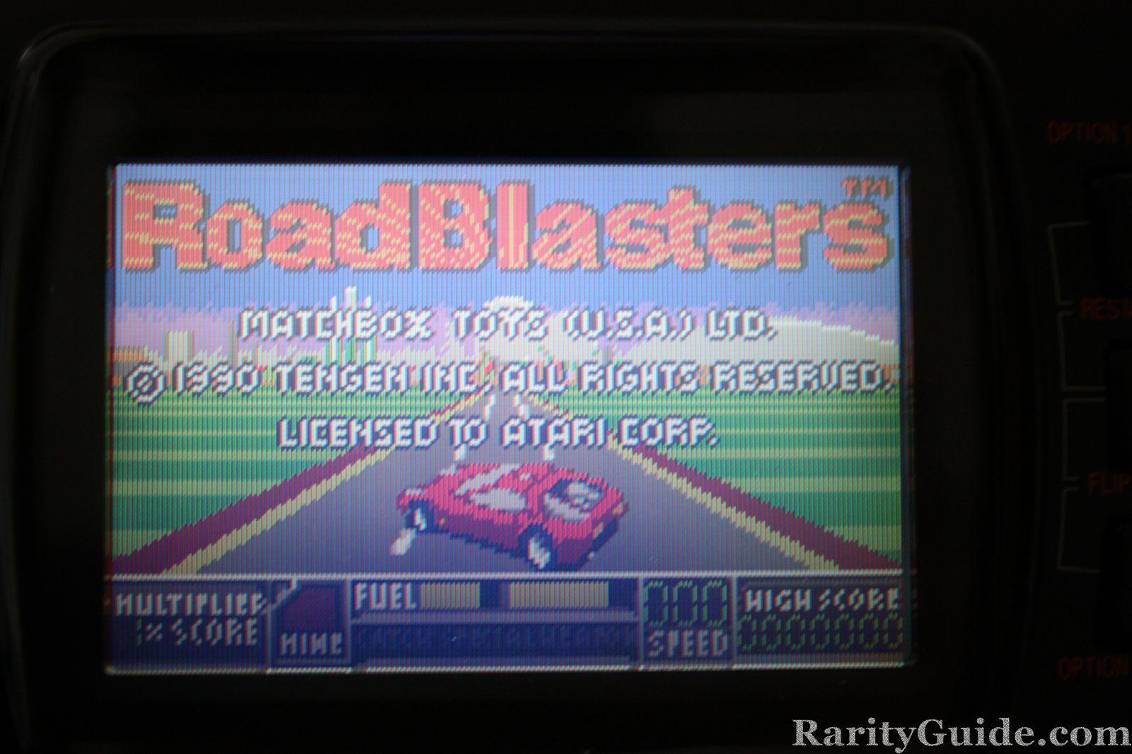 RoadBlasters for Atari Lynx Title Screen