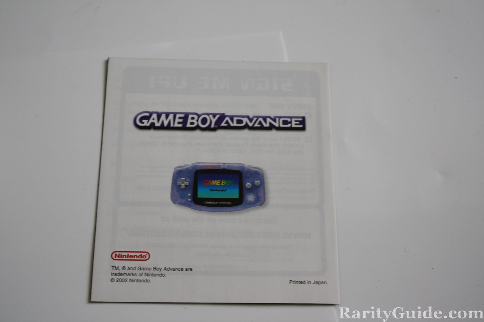 rarityguide com museum video game handhelds game boy advance rh rarityguide com game boy advance service manual game boy advance manual