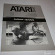 Atari 2600 Game Instructions Manual Realsports Tennis