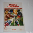 Atari 2600 Game Instructions Manual Missile Command