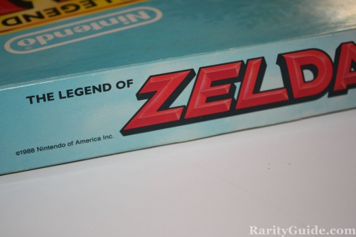 Legend of Zelda Game Milton Bradley 1988 Side Closeup