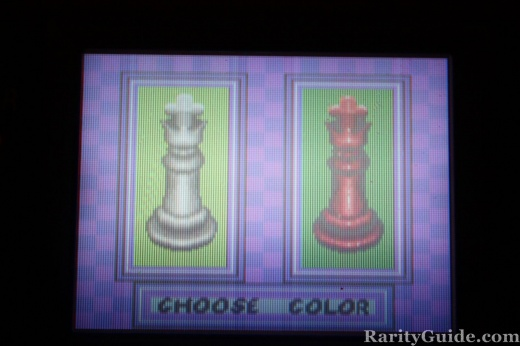 Five in One Chess Sega Game Gear Color Menu
