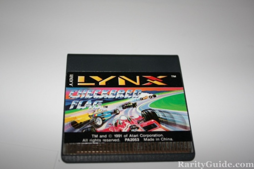 Atari LYnx Checkered Flag Game Cart
