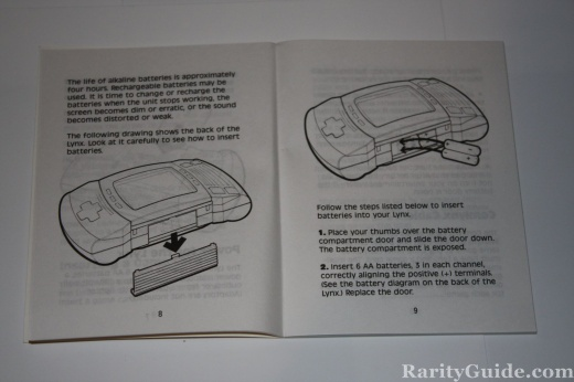 A look inside the Atari Lynx Owners Manual
