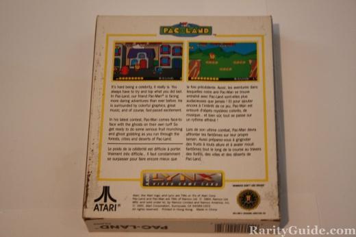 Atari Lynx Pac-Land Back of Box
