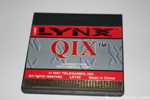 Atari Lynx Qix Cartridge