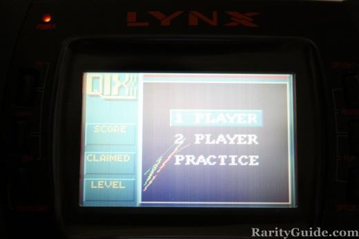 Atari Lynx QIX options screen shot
