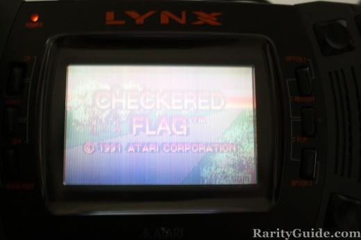 Atari Lynx Screenshot Checkered Flag