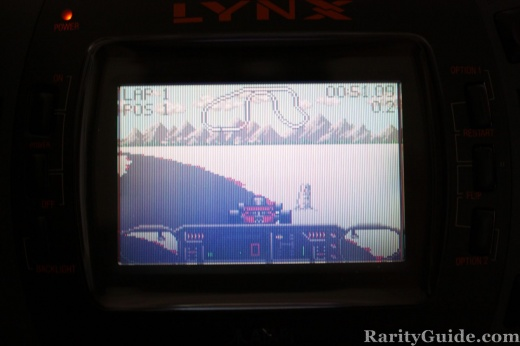 Checkered Flag Atari Lynx Game Screenshot
