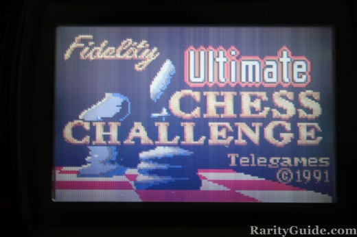Fidelity Ultimate Chess Challenge Title Screen Shot