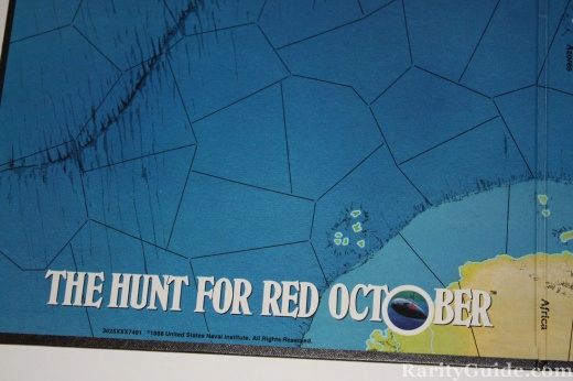 The Hunt for Red October TSR 1988 Game Board closeup