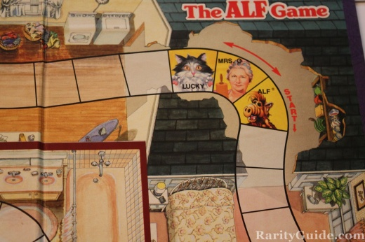 The Alf Game Coleco Games 1987 game board alf lucky mrs o