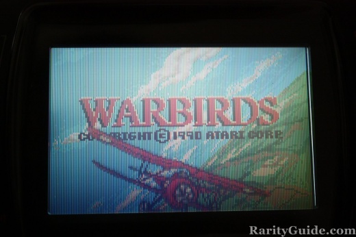 Atari Lynx WarBirds game 1990 Title Screen