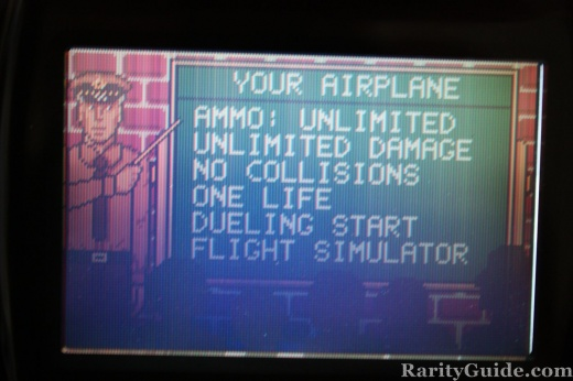 Atari Lynx WarBirds Game Menu Screenshot