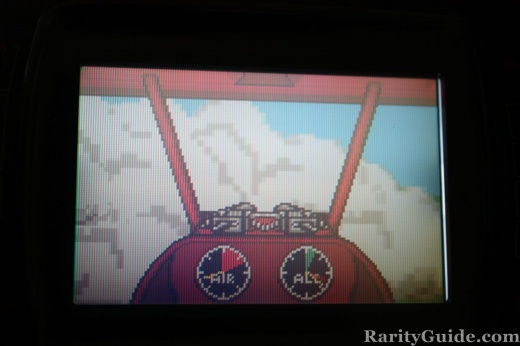 Plane inside clouds in WarBirds for Atari Lynx