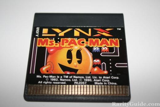 Atari Lynx Video Game Card Cartridge Ms. Pac-Man