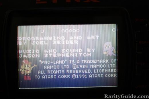 Pac-Land Atari Lynx Programmer Art Music Credits Screen