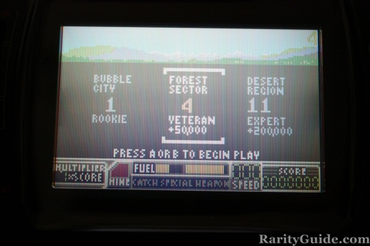Game Menu from RoadBlasters for the Atari Lynx