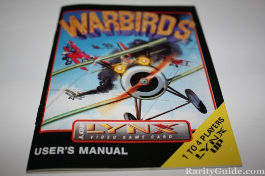 Atari Lynx Warbirds Users Manual