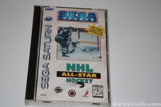 Sega Saturn Video Game Console NHL All Star Hockey