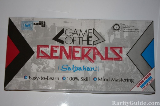 Game of the Generals Board Game Salpakan 1981 Game Box